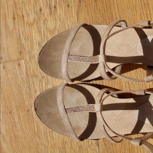 Anne Klein Shoes - Anne Klein Beaded Wedge Sandals